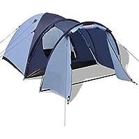 Benkeg Tienda De Campaña para 4 Personas De Tela Y Fibra De Vidrio Azul 330 X 210 X 130 Cm, Tienda De Camping Tienda De Fiesta Tienda de Playa