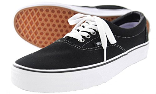 Vans U Era, Baskets mode mixte adulte (Œillets brillants) noir