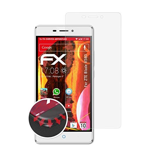 atFolix Schutzfolie passend für ZTE Blade V580 Folie, entspiegelnde & Flexible FX Bildschirmschutzfolie (3X)