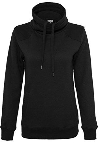 Urban Classics Damen Sweater Ladies Contrast Shoulder High Neck TB773