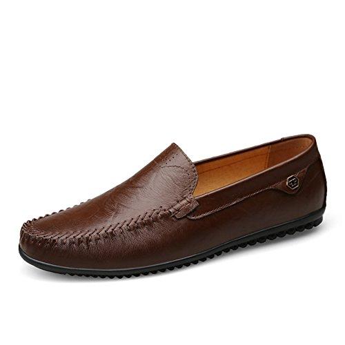 Eleganti mocassini uomo comode antiscivolo esterni trekking scarpe da guida,marrone scuro 38 eu