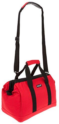 PUNTA® Sporttasche DOCTOR GYM Sport Tasche + Trinkflasche 0,7 Liter CO² fähig Red Vibes (Rot) 0200