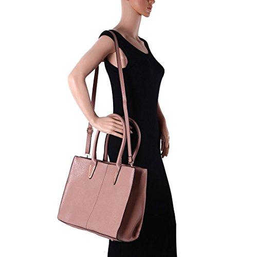 LeahWard® Damen Groß Mode Essener Berühmtheit Tragetaschen Damen Qualität Schnell verkaufend Modisch Handtaschen CWS00319B CWS00319C CWS00319 KAHAKI Groß Tragetasche