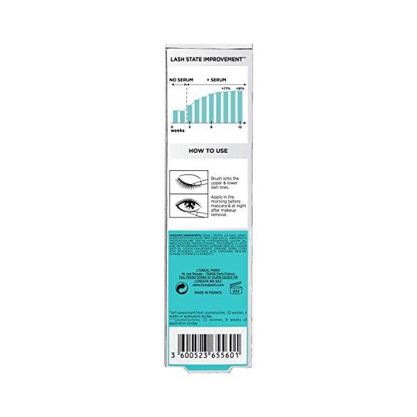 L'Oreal Paris suero de pestañas clínicamente probado para pestañas más fuertes y gruesas con aceite de ricino y ácido…