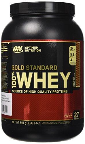 Optimum Nutrition 100% Whey Gold Standard Proteine del Siero di Latte in Polvere, Gusto Cioccolato Burro di Arachidi - 891 gr