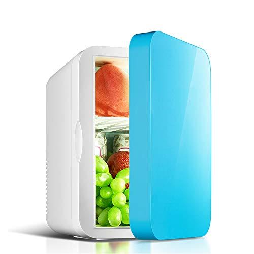 Mini-Kühlschränke, kühlere und warme kleine Einzeltürkühlung 6 l Kapazität/Kompakt, tragbar und leise/Wechselstrom + Gleichstrom-Kompatibilität