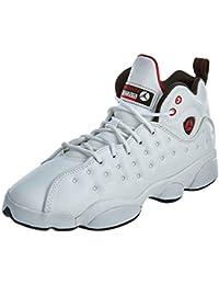 9c060b68b19 Jordan Kids Jumpman Team II (BG) White Black Gym RED Size 5