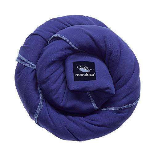 manduca Sling > royal < Elastisches Babytragetuch mit GOTS Zertifikat, für Neugeborene ab Geburt (royal/blau, 5,10m x 0,60m) -