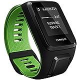 TomTom Runner 3 Cardio + Music - Montre de Sport GPS - Bracelet Large Noir/Vert (ref 1RKM.001.00)