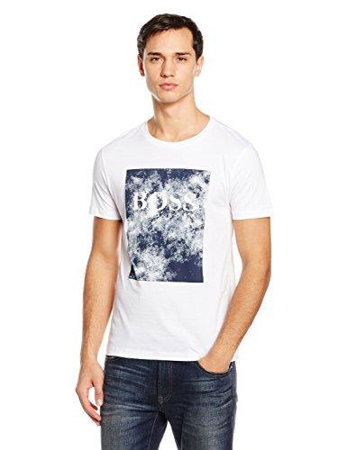 Boss Orange Theon, T-Shirt Uomo Bianco (white 100)