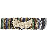 Turban donna-Fascia turban-per cabelli/Design ed esclusivi modelli realizzati a mano/Etnico multicolore con cravatta beige scamosciato /Regali originali per donna-Regali per lei-Regali per donna