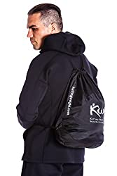 Kutting Weight (cutting weight) nylon bag (Black/Matte Silver Logo),One Size Fits All
