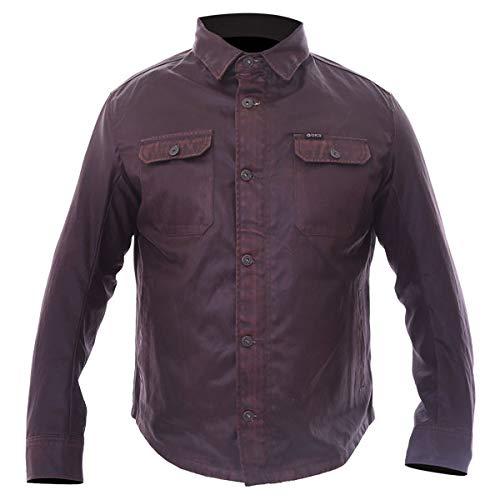 BKS Wax Cotton Kevlar Aramid Protective Motorcycle Shirt Mens Brown J&S (M)