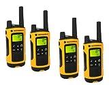 Motorola TLKR T80 Extreme Quadpack PMR Funkgeräte nach IPx4 (wetterfest, Reichweite bis zu 10 km) - 3
