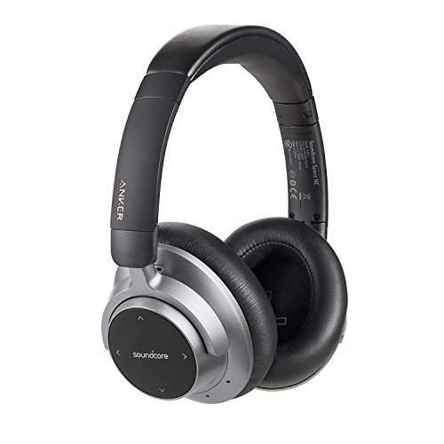 Soundcore Space NC Cuffie Over-Ear Senza Fili con Cancellazione del Rumore da Anker con Controlli Touch fino a 20 ore di Autonomia, Bluetooth 4.1, Design Pieghevole per Viaggi, Lavoro e Casa