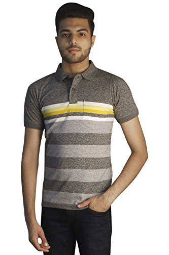 Tapasya Slub Grey Polo T-Shirt