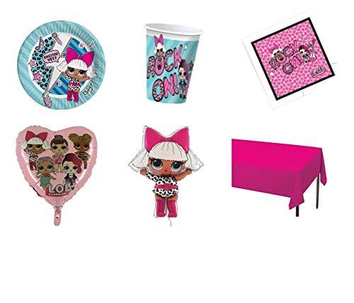 Party Store web by casa dolce casa LOL Surprise Coordinato ADDOBBI Festa - Kit Nr. 27 CDC (16 Teller, 16 Becher, 20 Töpfchen, 1 Serviette Monocolor, 1