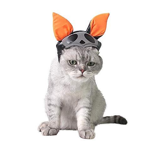 GY Halloween Pet Bat Hut, Halloween Katzen Schmuck, Pet Cosplay Hut, Verstellbares Elastisches Band, Geeignet Für Die Meisten Haustiere