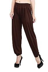 Myshka Womens Regular Fit Brown Harem Pant