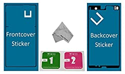 Mmobiel Front + Back Full Sticker Set For Sony Xperia Z Waterproof Adhesive Sticker Glue For Lcd Front Screen & Battery Backcover Z L36h Lt36h Lh36i C6603 C6602 C6606 Incl Glue Removing Cleaning Pads