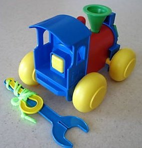 Tupperware BUILD A TRAIN Toy by Tupperware