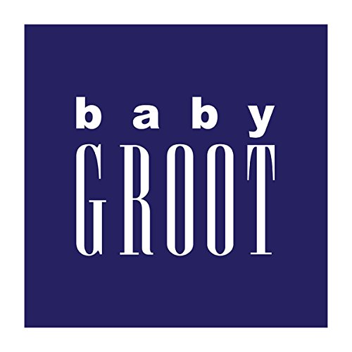 Guardians Of The Galaxy Baby Groot Men's Baseball Long Sleeved T-Shirt White/Black