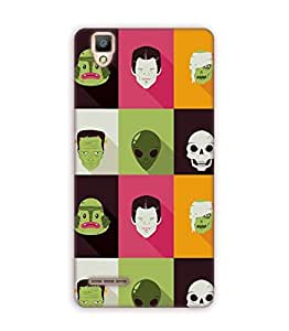 Happoz Oppo F1 Cases Back Cover Mobile Pouches Shell Hard Plastic Graphic Armour Premium Printed Designer Cartoon Girl 3D Funky Fancy Slim Graffiti Imported Cute Colurful Stylish Boys D040