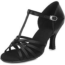 HIPPOSEUS Zapatos de la danza de salón de baile/Zapatos de baile/Zapatos latinos de el satén mujeres,Modelo ESAF403