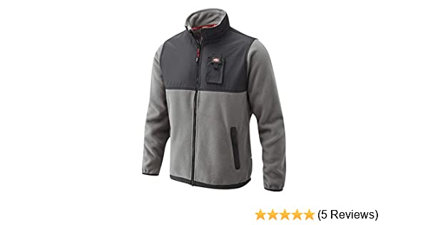 Lee Cooper Workwear LCJKT405 Mens Work Safety Polar Micro Fleece Jacket Medium Black//Black