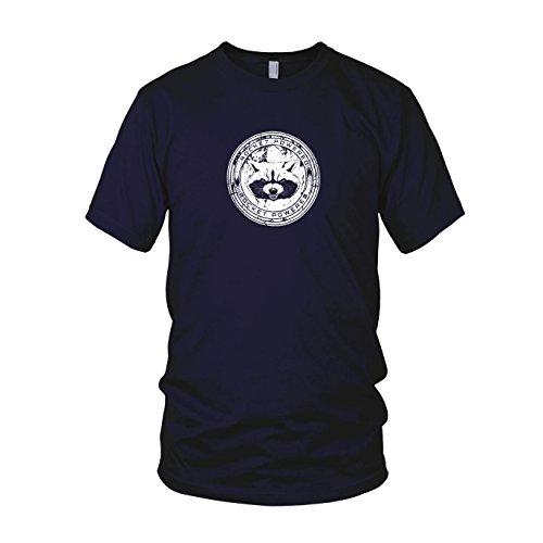 Herren Drax Kostüm - Rocket Powered - Herren T-Shirt, Größe: M, dunkelblau
