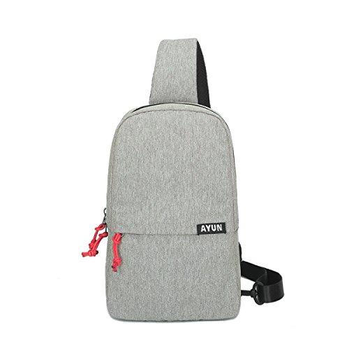 BULAGE Tasche Brusttasche Schulter Schulranzen Lässig Europa Und Die Vereinigten Staaten Freizeit Großzügig Große Kapazität Atmungsaktiv Gray