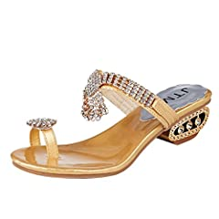 95640da7021 VEMOW 2018 Spring and Summer New Shoes for Ladies Women Beach Bohemian  Sandals Flip Flop Fashion Rhinestone Wedges Shoes Crystal High Heels Shoes  Ladies ...
