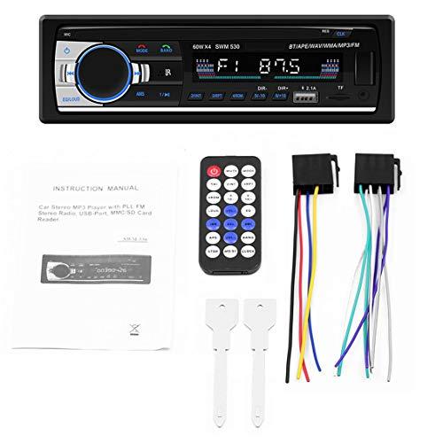 ForceSthrength Autoradio MP3SWM-530 ad Alta Definizione con autoradio GPS Stereo da 2 DIN LCD
