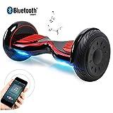 Windgoo Hoverboard Gyropode Bluetooth 10 Pouces,Smart Scooter Electrique Overboard APP Moteur 700W Self Balance Board Auto-équilibrage avec LED Scooter électrique pour Enfants und Adultes