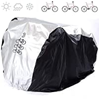 ANFTOP Funda para Bicicleta Funda Protector de Polyester Cubierta Impermeable de Bicicleta para 3 Bicicletas de 200 x 105 x 110 cm