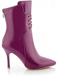 Botas de Mujer de Tacón Alto en Fino de Gama Alta con Zapatos de Mujer Puntiagudos de Alta Gama,Púrpura,38