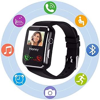 Reloj Inteligente Smartwatch SN07 Redondo con Podómetro de Pantalla Táctil con Ranura para Tarjeta SIM para