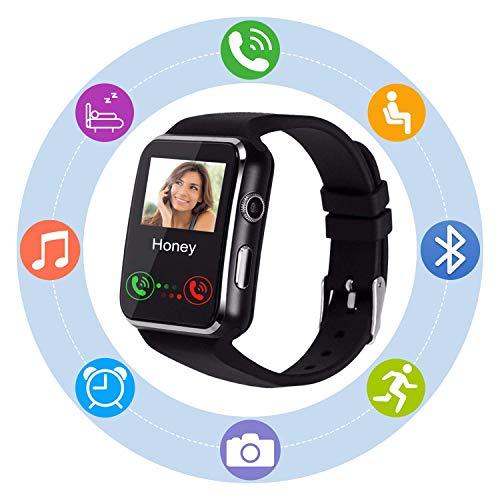 Sepver Smart Watch SN07Smartwatch sbloccato orologio cellulare con slot per SIM Card per Samsung, LG, Sony, HTC, Huawei Google Xiaomi Android Smart (nero)