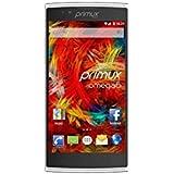 'Primux Omega 6–Smartphone de 5.5(4G, WIFI, Bluetooth, QuadCore, 1Go de rAM, 8Go de mémoire interne) Blanc