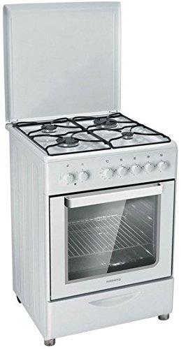 Rosieres RGC 6111 RB Intégré Cuisinière à gaz A Blanc - Fours et cuisinières (Built-in cooker, Blanc, Rotatif, Devant, Cuisinière à gaz, acier émaillé)