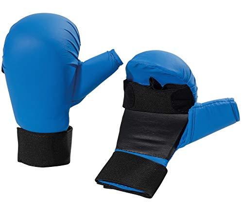 BAY® Stock Handschuhe für Waffenkampf - BLAU - (L) Large Senior Erwachsene Waffen Holzwaffen BO Stab Langstock Stock Vollkontakt Kampfsport Waffen Budo