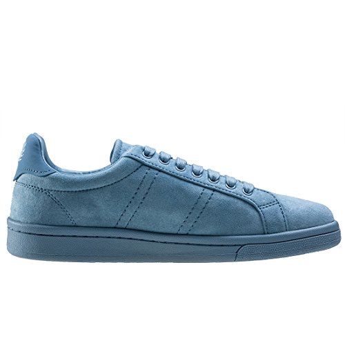 Fred Perry Brushed Cotton Court Herren Sneaker Blau Pastel Blue