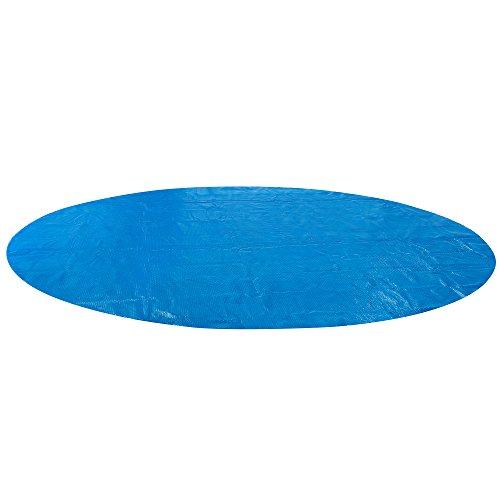 Arebos Bâche solaire à bulles pour piscine ronde bleu 5m 400 µ/microns