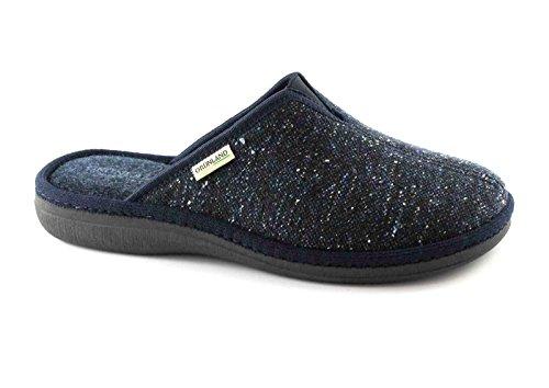 GRÜNLAND ENEA CI1227 blau Pantoffeln Mann Stoff Blu