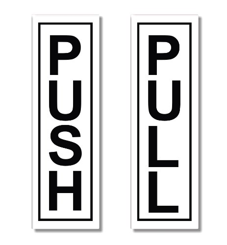 1x push1x pulldoor sticker sign door stickers 1 x push 1 x pull door sticker sign door stickers