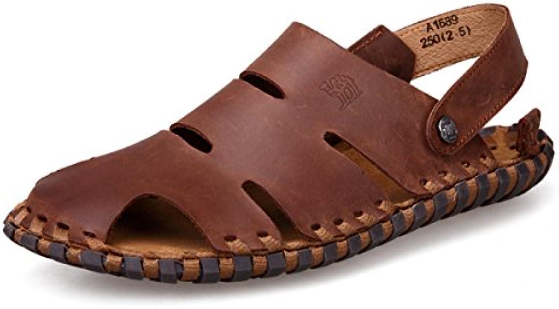 LYZGF Männer Jugend Sommer Casual Strand Sandalen Mode Atmungsaktive Hausschuhe