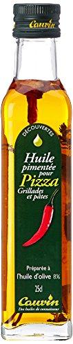 Cauvin Huile Pimentée pour Pizza Grillade/Pâtes 25 cl - Lot de 4