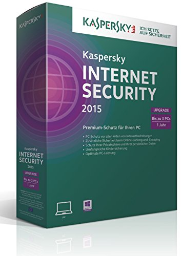 Kaspersky Internet Security 2015 Upgrade – 3 PCs