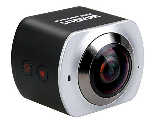 wimius 360Grad Panorama Sport Action Kamera 4K 220° Ultra Weitwinkelobjektiv 16MP Full HD 1080P Wifi Actioncam (V3)