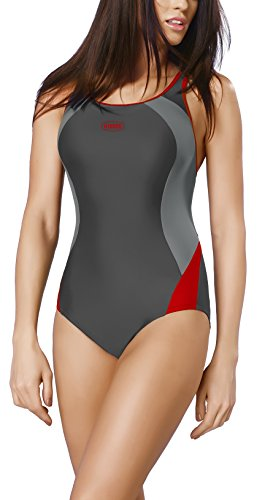 Gwinner maillot de bain le sport maillot de bain maillot de bain maillots de bain femme une pièce très confortable et élastique, avec douceur, bonnets amovibles, la qualité made in UE Alinka